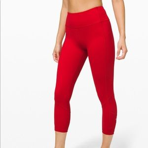 """Red Lululemon Pace Rival Crop - 22"""" ❤️"""